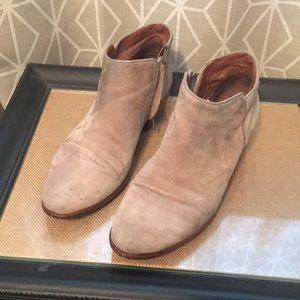 Sam Edelman grey suede petty booties